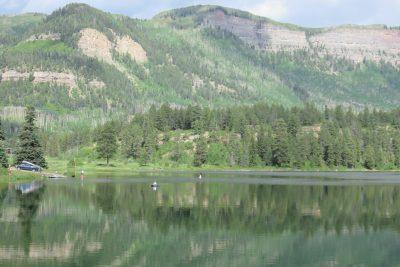 Uitzicht vanuit camping