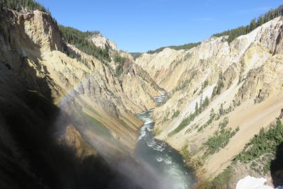 Lower Falls Brink, Grand Canyon of the Yellowstone